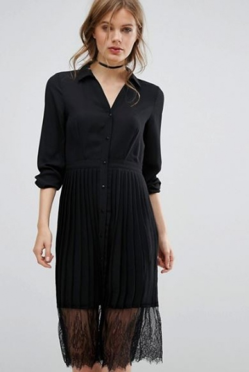Vero Moda - robe chemise plissée
