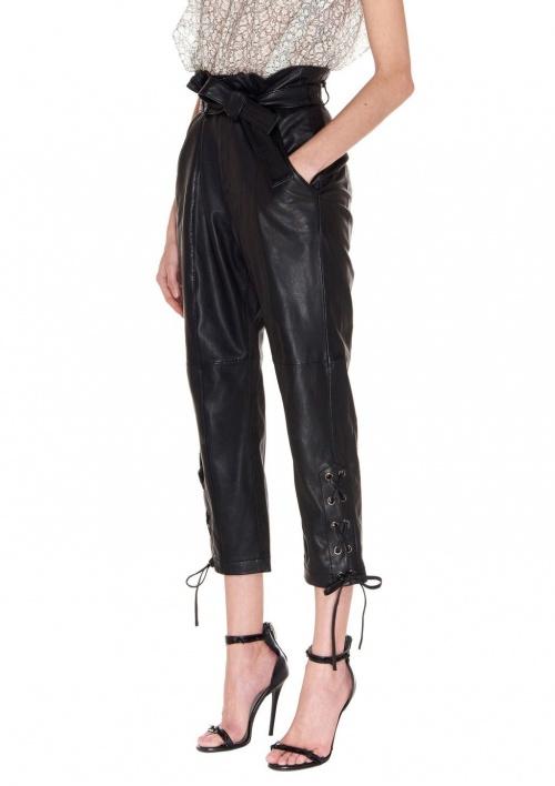 Marissa Webb - pantalon cuir lacé
