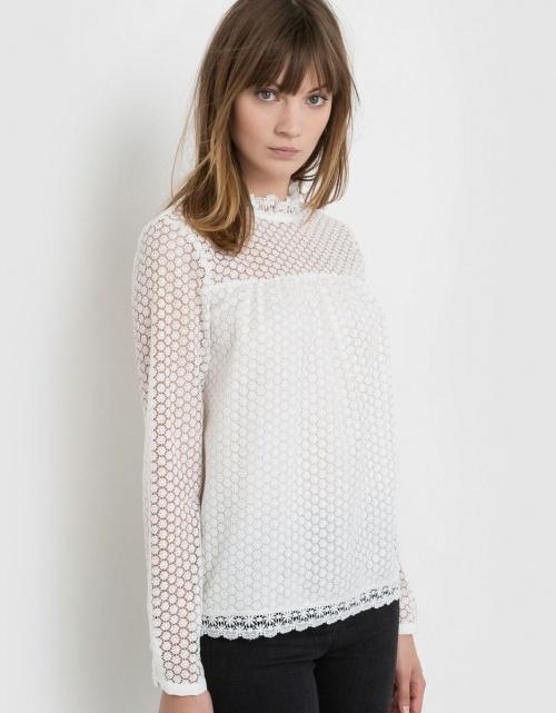 R Studio - blouse dentelle
