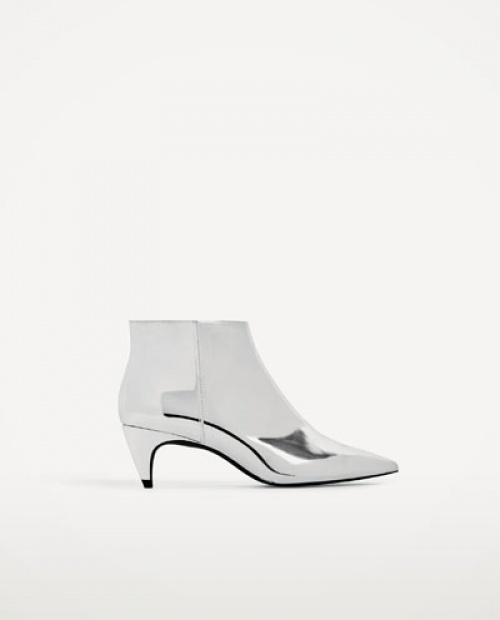 Zara - Bottines argent