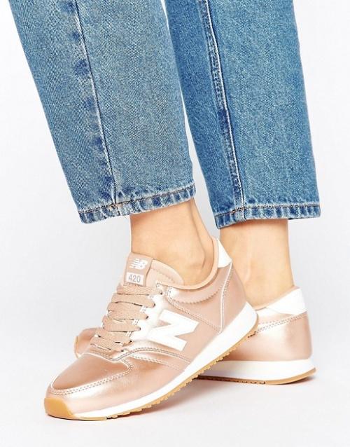 New Balance - Baskets  or rose