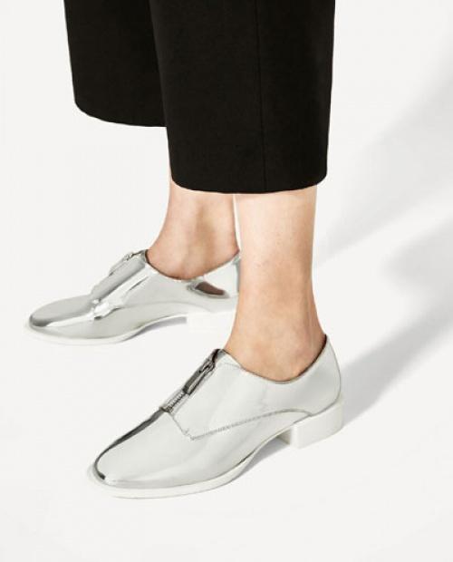 Zara - derbies argentées