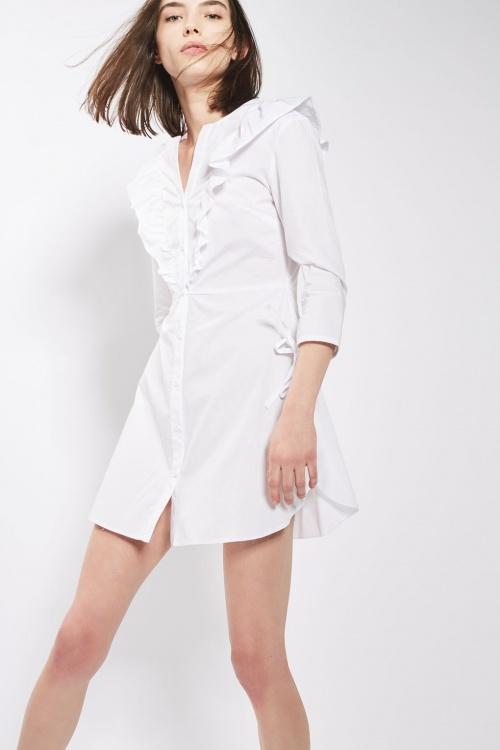 Topshop - robe chemise volantée