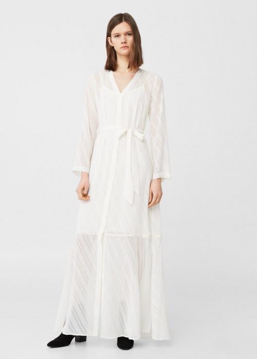 Mango - robe longue texturée