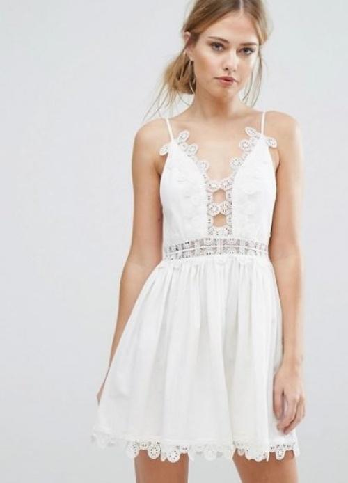 Finders - robe dentelle à bretelles