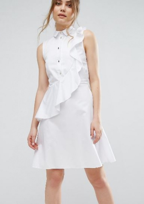 Closet - Robe chemise volantée