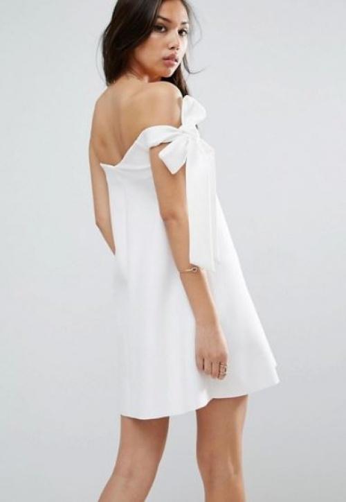 Asos - robe courte asymétrique avec nœud