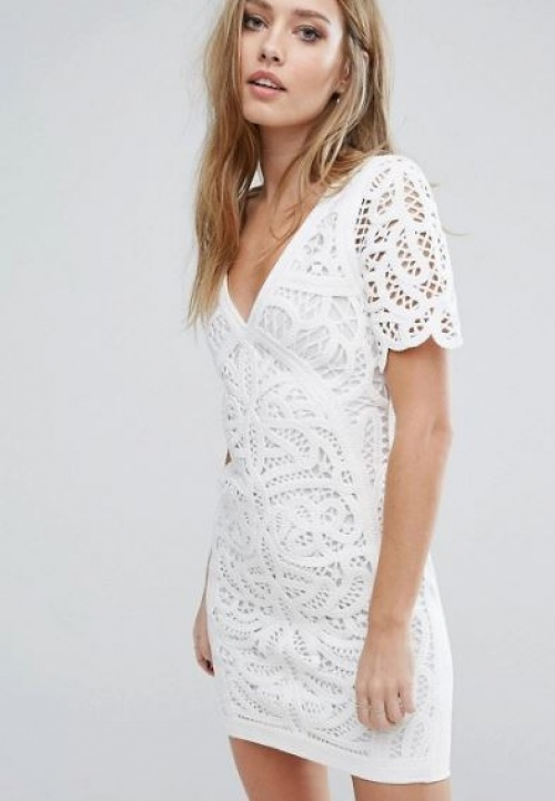 French Connection - robe dentelle