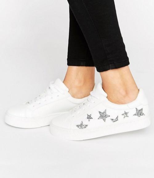 Baskets à lacets motif étoiles