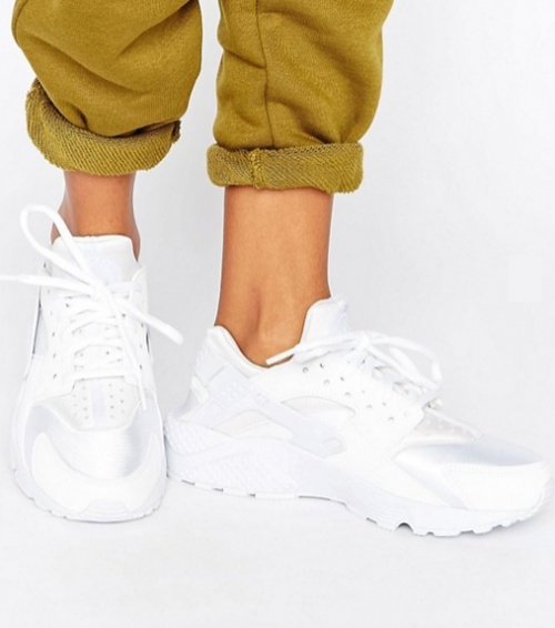 Air Huarache Run - Baskets - Blanche
