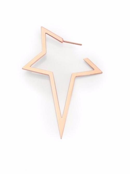 18K Rose Gold Single Star Earring