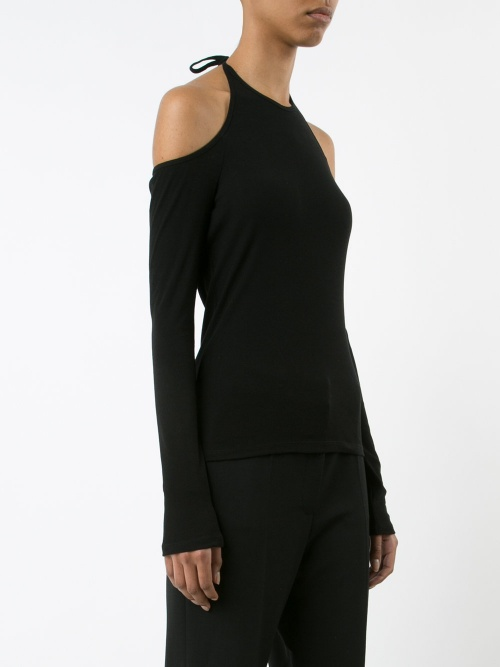 cut-out knitted top