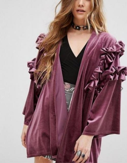 Reclaimed Vintage - kimono en velours