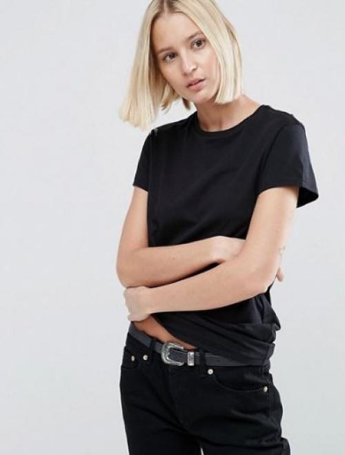 Asos - t-shirt ras de cou noir