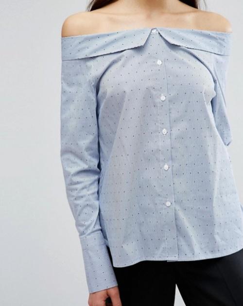 Chemise à rayures destructurée