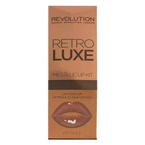 Makeup Revolution - Kit de rouge à lèvres métallique
