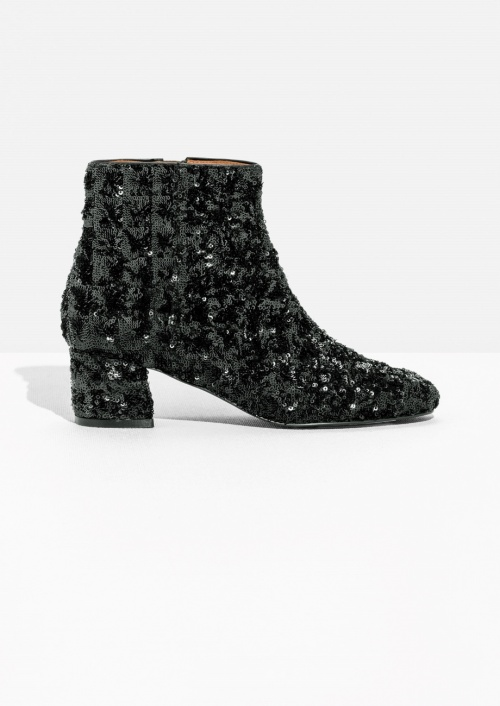 Sequined Ankle Boot