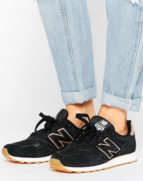 New Balance - 373 - Baskets à ornement or rose - Noir