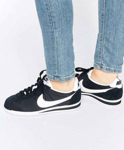 Nike - Cortez - Baskets classiques - Noir et blanc