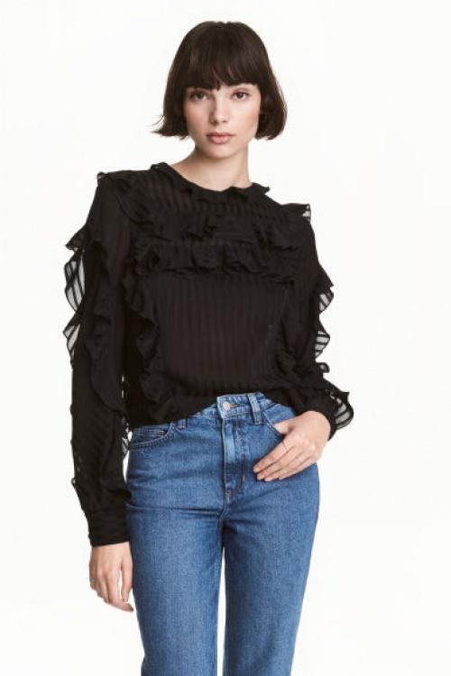 H&M - blouse volantée