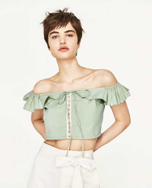 Zara - top court volanté