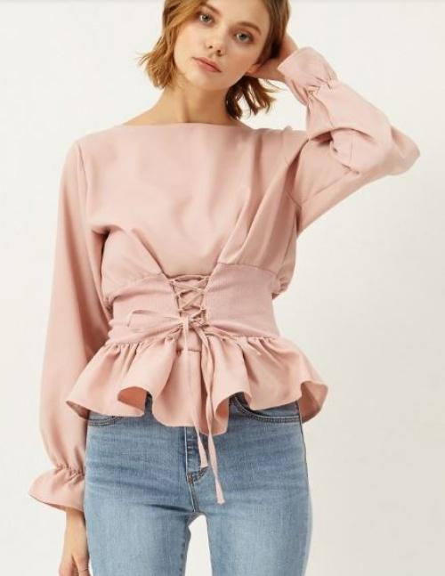 Storets - blouse corset et volants