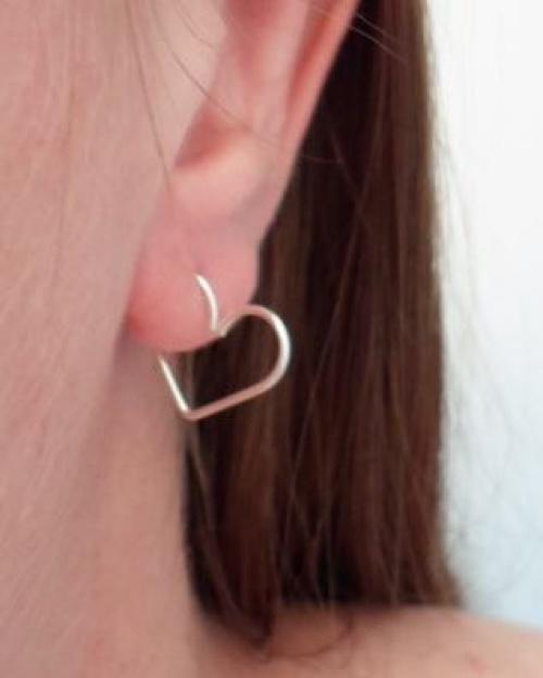 Alufolie - piercing coeur