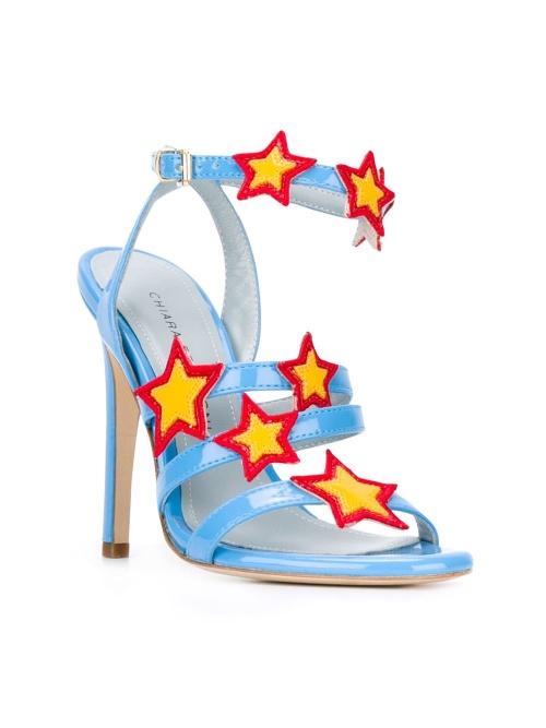 sandales à patchs étoiles