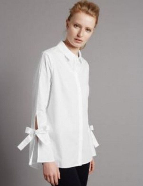 Marks & Spencer - Chemise noeuds aux manches