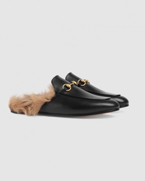 Gucci - Mules fourrées Pincetown