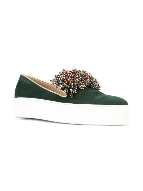 ELIE SAAB  beads trim slippers
