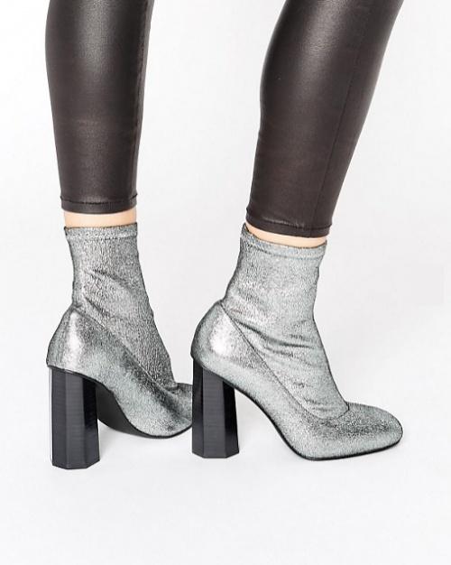 Senso - Umar II Stardust - Bottines stretch effet chaussettes - Argenté
