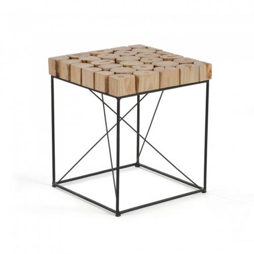 Kavehome - Table d'appoint en bois et métal