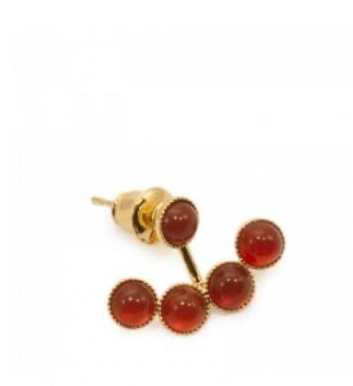Imaï - Dessous d'oreilles pierres rouges