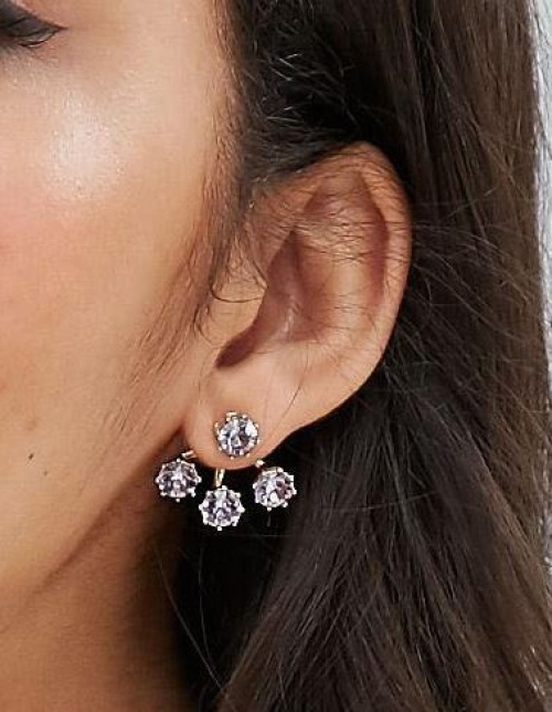 Asos - Dessous d'oreilles cristaux violets