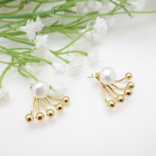 Emma & Chloé - Dessous d'oreilles perle et or