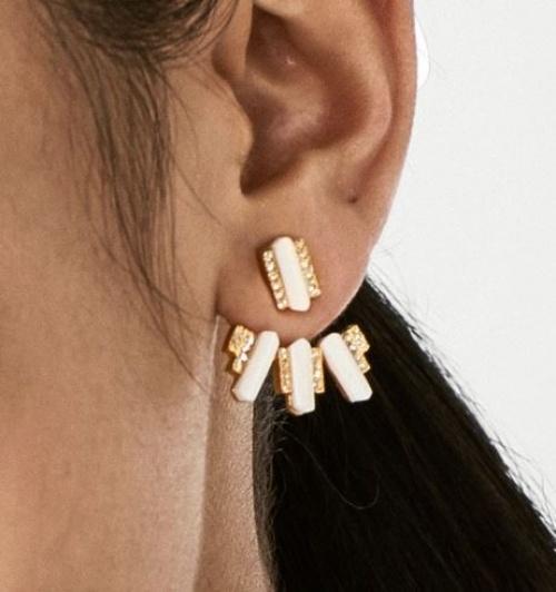 Baublebar - Dessous d'oreilles blanc et or