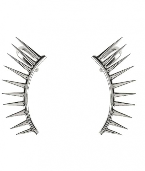 COSMIC SPIKEY EAR CUFF SILVER