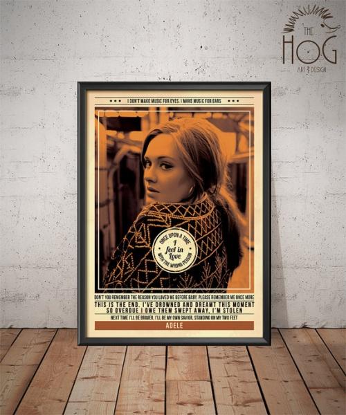 Hog Art Design - Affiche Adèle