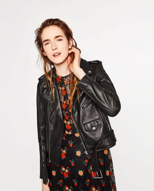 Zara - Perfecto cuir noir