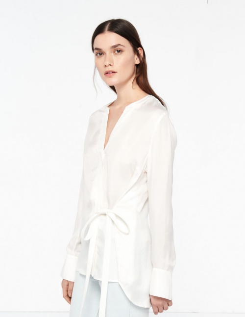 Sandro - Chemise blanche nouée