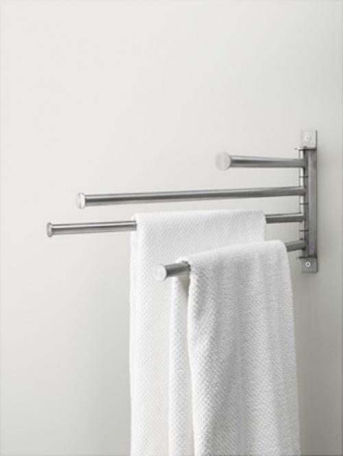 GRUNDTAL Porte-serviettes pivotant 4 bras, acier inoxydable