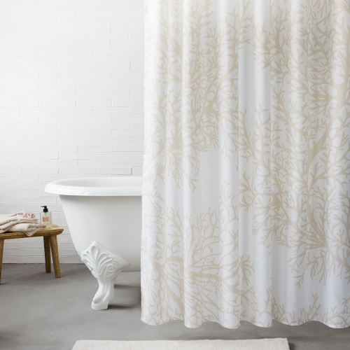 Zara Home - Rideau de douche coraux