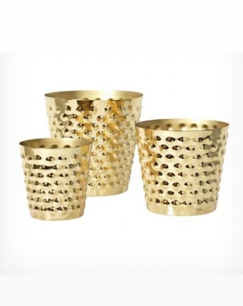Bubbles - Cache-pots en laiton