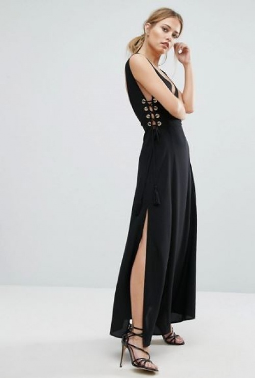 Finders - Robe longue lacée