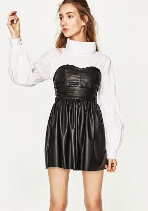 Zara - Robe bustier PU