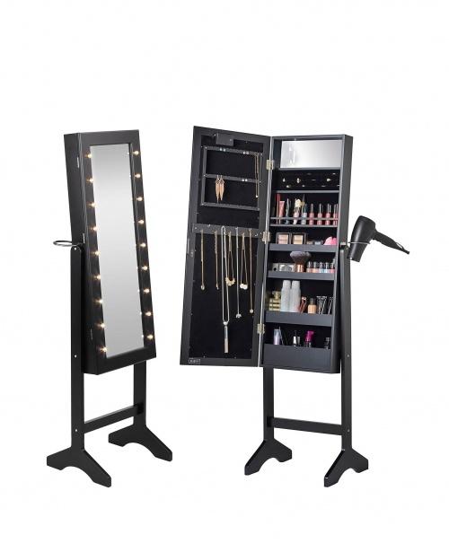 Beautify - Armoire à make-up et bijoux avec miroir