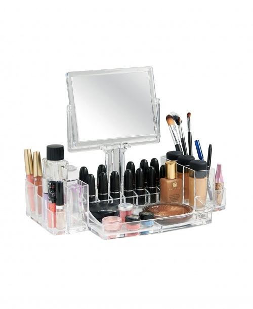 Beautify - Organiseur pour make-up avec miroir