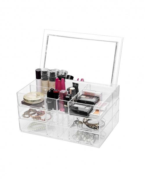 Feibrand - Organiseur pour make-up avec miroir