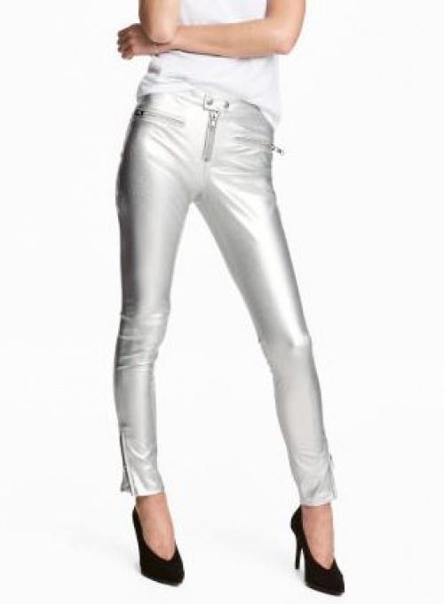 H&M - Pantalon argenté